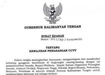 Surat Edaran Gubernur Kalteng.