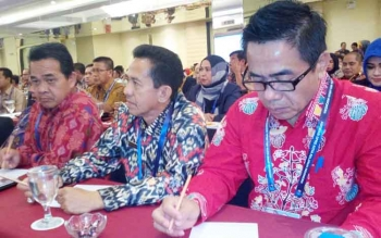 Sejumlah anggota DPRD Kota Palangka Raya menghadiri pembukaan Rakornas Asosiasi DPRD Seluruh Indonesia (ADEKSI) yang diselenggarakan di Kota Yogyakarta.