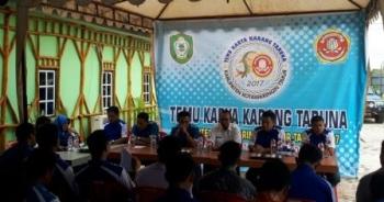 Karang Taruna Kabupaten Kotawaringin Timur melaksanakan temu karya di Kantor Karang Taruna Kotim, Sabtu (16/9/2017).