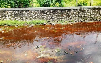 Salah satu kondisi drainase yang dikeluhkan warga dalam reses anggota DPRD Kota Palangka Raya Dapil II.