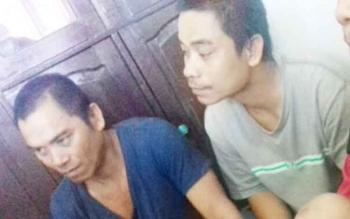 Yanto alias Bapak Emos (40) dan Dandu (31) satpam pencuri sawit.