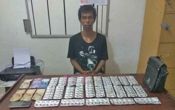 Pauji alias Uji beserta barang bukti sudah diamankan di Polres Palangka Raya