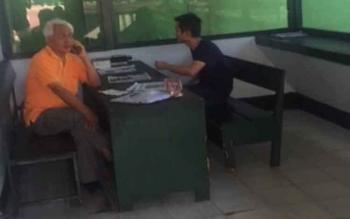 Pemilik pabrik Zircon (Puya), CV. Harapan Mandiri, Edi Sunario saat di Makodim Pangkalan Bun
