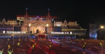 Suasana pembukaan Pesparawi ke-XVI Tingkat Kalteng tahun 2017 di Stadion Hinang Golloa, Nanga Bulik, Sabtu (16/9/2017) lalu.