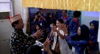 Wabup Lamandau, Sugiyarto, saat mengunjungi Lamandau Expo 2017 di Stand RSUD Lamandau, beberapa waktu lalu.