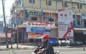 Titik pemasangan reklame di Kota Sampit.