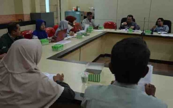Rapat persiapan Lomba Baca Kitab Kuning tingkat Provinsi Kalimantan Tengah di Palangka Raya.