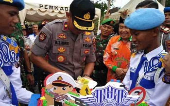 Perayaan HUT Satlantas di Taman Kota Sampit, Jumat (22/9/2017) sore.