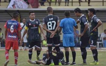 Pertandingan Kalteng Putra menghadapi Persigo Semeru FC.