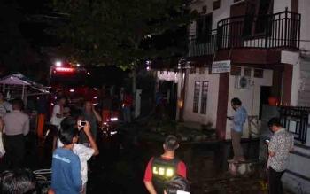 Kebakaran yang nyaris menghanguskan sebuah rumah di Jalann Bapuyu, Palangka Raya.