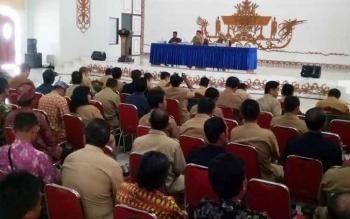 Sosialisasi Undang-Undang Nomor 7 Tahun 2017 tentang Pemilihan Umum Serentak di Indonesia di GPU Damang Batu Kuala Kurun, Senin (25/9/2017).