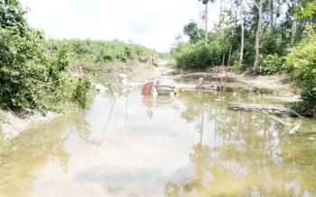 ondisi jalan di wilayah pelosok utara Kotim.