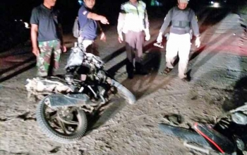 Korban kecelakaan di Kilometer 2, Jalan Antang Taoi, Kelurahan Sepang Simin, Kecamatan Sepang, Kabupaten Gumas, Senin (25/9/2017) sekitar pukul 17.45 WIB.