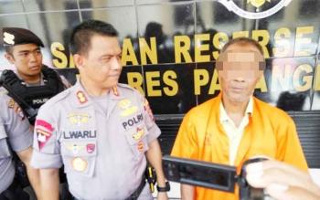 Salah seorang pembakar lahan Sulis diamankan di Polres Palangka Raya.