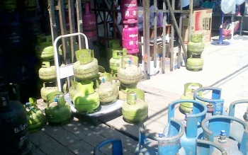 Salah satu toko di kota Kasongan yang menjual gas LPG