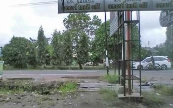 Suasana Kota Palangka Raya menjelang tengah hari masih agak mendung lantaran sejak pagi diguyur hujan dengan intensitas ringan, Rabu (27/9/2017).
