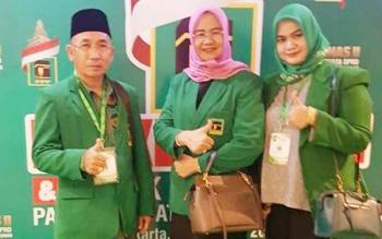 Tiga anggota Fraksi PPP DPRD Barito Utara, H Abri, Hj Nurul Ainy, dan Wardatun Nurjamilah