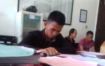 Andre Jangkung Nugroho tersangka kasus pesetubuhan terhadap anak di bawah umur.