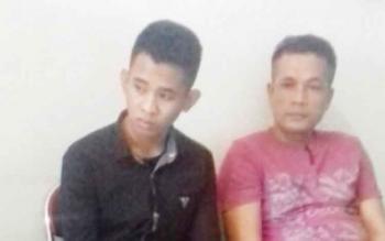 Gunawan alias Gun tersangka kasus narkoba (kanan)