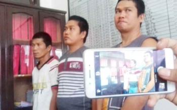Wardison alias Wando, Suherman Lalang alias Lalang, dan Toni U Dau alias Parman Tony tersangka kasus pencurian