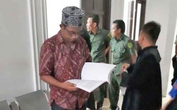 Wahyuno salah satu terdakwa korupsi drainase bandara H Asan Sampit.
