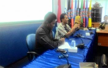 Pembantu Direktur II Politeknik Negeri Malang, Halid Hasan menerima kunjungan kerja dari Pemerintah Kota Palangka Raya, Jumat (29/9/2017)