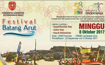 Festival Batang Arut yang bakal ri hadirkan sebagai sebagai salah satu kemeriahan perayaan HUT Kobar ke 58