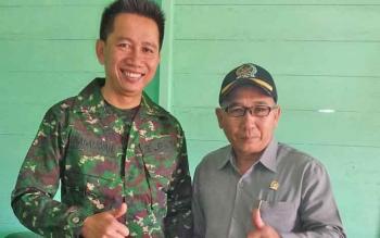 Angota DPRD Barito Utara Abri bersama Bupati Nadalsyah.