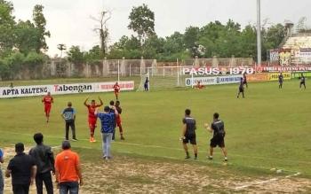 Kalteng Putra vs PSBS Biak di Stadion Tuah Pahoe, Palangka Raya, Rabu (4/10/2017) sore.
