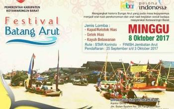 Festival Batang Arut akan memeriahkan peringatan HUT ke 58 Kotawaringin Barat.