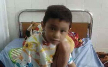 Zaki Pratama Putra saat sebelum operasi dilaksanakan