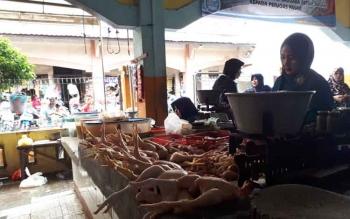 Daging ayam ras salas satu komoditas yang mempengaruhi deflasi.