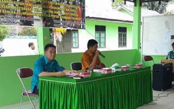 Sosialisasi sistem pengelolaan sampah di Kelurahan Bukit Tunggal, Kecamatan Jekan Raya, Kota Palangka Raya, Kamis (5/10/2017).