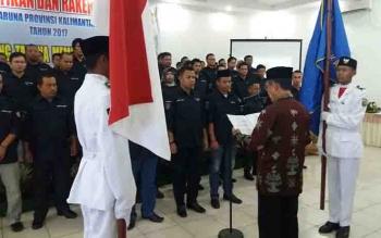 Pelantikan pengurus Karang Taruna Kalimantan Tengah, di Palangka Raya.