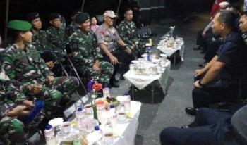 Polda Kalteng dan Polres Palangka Raya menyambut kedatangan pasukan raiders di Yonif 631 Antang.