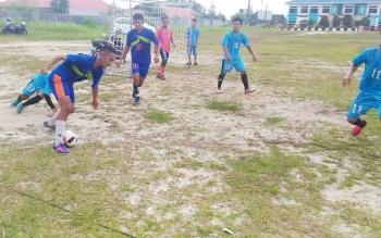Pertandingan futsal Camat Cup di lapangan Isen Mulang Kuala Kurun, Sabtu (7/10/2017).