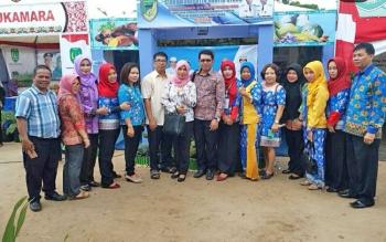 Sekda Barito Utara, Ir H Jainal Abidin saat menghadiri kegiatan puncak acara peringatan hari pangan sedunia ke-37 Tingkat Provinsi Kalimantan Tengah di Sampit.
