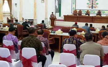 Rapat paripurna di DPRD Sukamara.