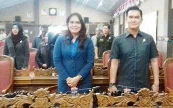 Sekretaris Komisi III DPRD Kotim, Hero Harapanno Mandouw (kanan).