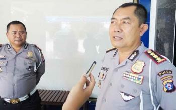Direktur Lalu Lintas Polda Kalteng, Kombes Pol Eko Waluyo memberikan keterangan kepada wartawan, Rabu (11/10/2017).