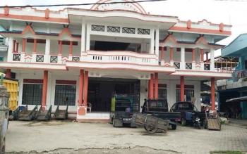 Pasar Gembira Muara Teweh tampak megah setelah dibangun