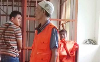 Sejumlah tahanan tindak pidana yang didominasi peredaran zenith dan sabu-sabu saat sidang di PN Sampit.