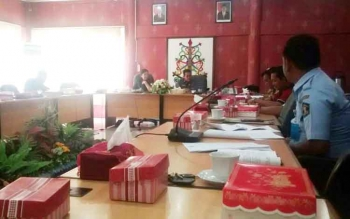 Anggota DPRD HSU dan Tanah Laut, Provinsi Kalimantan Selatan melakukan kunjungan kerja ke DPRD Kota Palangka Raya, Kamis (12/10/2017)