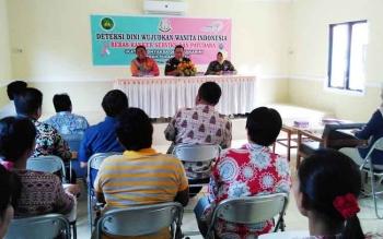 Acara pembukaan bakti sosial deteksi dini kanker serviks dan payudara yang digelar Ikatan Adhyaksa Dharmakarini Pulang Pisau.