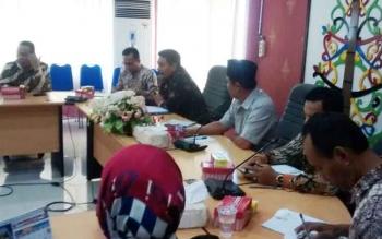 DPRD HSU dan Tanah Laut saat audiensi dengan anggota DPRD Kota Palangka Raya, Kamis (12/10/2017)