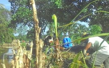 Pembaguan talud Handil Semangat hingga ke Handil Ketapi di Kelurahan Selat Dalam, Kabupaten Kapuas.