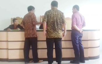 Sidang prapeperadilan terhadap Bea Cukai di Pengadilan Negeri Sampit.