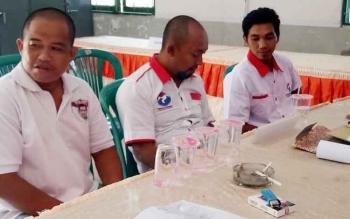 KPU Sukanara saat menerima pendaftaran parpol peserta Penilu tahun 2019.