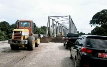 Jembatan Banut Kelanaman di Desa Banut Kelanaman ini sekarang sudah dapat difungsikan.