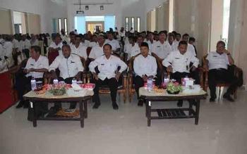 Kegiatan ASN di kantor Bupati Sukamara, beberapa waktu lalu.